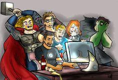 The Avengers Discover Fan-Art by TRALLT.deviantart.com on @DeviantArt