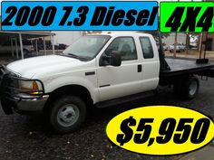 $5,950.00 - 2000 Ford F350 4X4 Truck 7.3 Diesel SUPERCab Dually $5,950