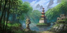 Bamboo Forest - World of Warcraft: Mists of Pandaria