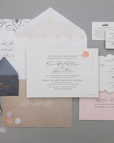 """This suite includes a mini """"celebrate"""" envelope filled with confetti pieces.Cheree Berry Paper"""