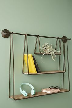Slide View: 1: Tiered Wooden Shelving Unit