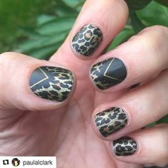 #Repost @paulalclark with @repostapp  My 2nd manicure of jamberry wraps that I did last night! All ready for Swingamajig shenanigans today! These 'Spotted Glams'  are pretty wild -rah!! (sorry!!)  @jamberryruth #jamberry #jamberrynails #jamberrywraps #spottedglamjm #leopardprint #nails #swingamajig #hereicome #nailwrapswithruth