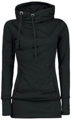 ♥  cute fitted black hoodie