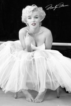My favorite Marilyn picture....all that tulle is breathtaking.