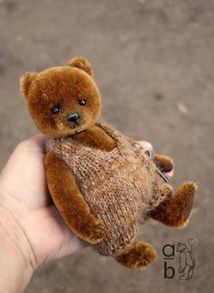 Mowgli OOAK Brown Mohair Artist Teddy Bear from Aerlinn