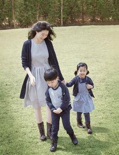 Jane with her kids, Kim and David