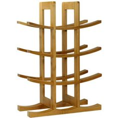 @Overstock - Store your wine collection in style with this bamboo 12-bottle wine rack. This wine rack features a curvy, eye-catching design in a finish that will blend in with most decors. This space-saving rack makes efficient use of your space.http://www.overstock.com/Home-Garden/Oceanstar-12-bottle-Natural-Bamboo-Wine-Rack/5333011/product.html?CID=214117 $21.42