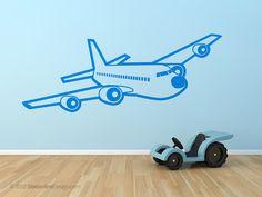 Giant Passenger Airplane Vinyl Wall Art  3D by StreamlineDesign, $20.95