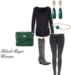 """""""Black Magic Woman"""" by westernglamour on Polyvore"""