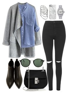 """inspired date outfit"" by cristinahope on Polyvore featuring moda, Topshop, Chicwish, Acne Studios, Chloé, Ray-Ban, Rolex, Uncommon y Cartier"