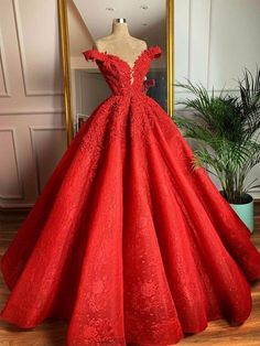 Customized wedding dress factory export trade for ten years, welcome to order wedding dress in batches with their own factory Red Ball Gowns, Red Gowns, Ball Dresses, 15 Dresses, Elegant Dresses, Pretty Dresses, Beautiful Dresses, Sexy Dresses, Summer Dresses