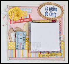 "Creativa4all - SCRAPBOOKING: SHOPPING LIST ""LA COCINA DE CINTA"""