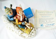 Norman Rockwell figurine Downhill Racer NR Museum by LoveNYarn, $65.00