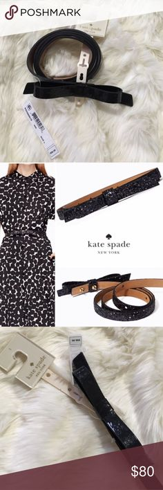 Kate Spade Large Skinny Bow Belt NWT. In original packaging. Also available in small. Fast shipping. Reasonable offers accepted. kate spade Accessories Belts