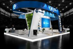 Exhibition stand on Behance Exhibition Stall, Exhibition Stand Design, Trade Show Booth Design, Island Design, Booth Displays, Behance, 3ds Max, Mirror, Pop Up