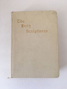 THE HOLY SCRIPTURES Masoretic Text Jewish New Translation Ivory Cover Gold 1944