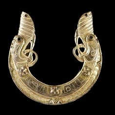 Another chape from a scabbard from the St. Ninian's treasure.  Guilded.  Pictish.  Ca. 800AD.