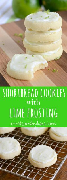 A few drops of LorAnn Natural Lime Oil would give these cookies a pleasant punch of lime flavor... Shortbread Cookies with Lime Cream Cheese Frosting