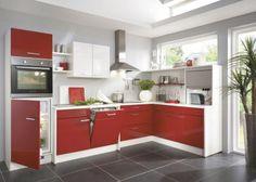 Küche rot und weiß - Möbel Mit www.moebelmit.de