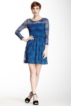 3/4 Length Sleeve Lace Dress