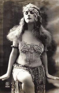 Vintage belly dancer.