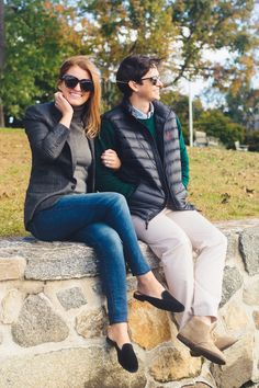 polo ralph lauren windowpane wool blazer on design darling Blue Oxford Shirt, Preppy Fall, Black Puffer Vest, Houndstooth Skirt, Gingham Shirt, Autumn Winter Fashion, Winter Style, Fall Looks, Polo Ralph Lauren