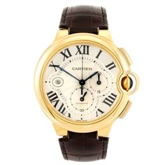 An 18k gold automatic chronograph Cartier Ballon Bleau wrist watch