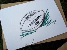 RUGBY Birthday Card by IsleofGB on Etsy