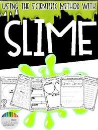 Sizzling image with slime science printable report