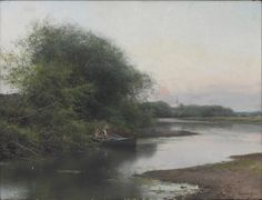 Emilio Sánchez Perrier - A Summer Day on the River I Landscape Art, Landscape Paintings, River I, Seascape Art, Summer Days, Spanish, Artsy, Fine Art, Water