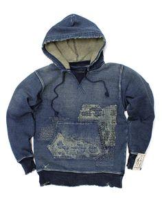 ⓀⒾⓃⒼⓈⓉⓊⒹⒾⓄⓌⓄⓇⓀⓈ▻ Kapital.jp - Sweatshirt Indigo [worn]
