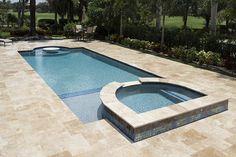 NPTpool.com Swimming Pool Designs, Swimming Pools, Pool Pavers, Pool Tiles, Florida Pool, Rectangle Pool, Pool Finishes, Glass Pool, Pool Installation