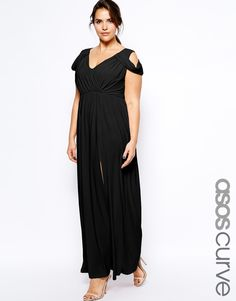 ASOS Curve | ASOS CURVE Wrap Front Maxi Dress at ASOS