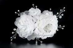 Silk Wedding Hair Flower & Rhinestone Sprays