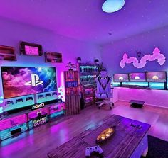 Bedroom Setup, Room Design Bedroom, Room Ideas Bedroom, Computer Gaming Room, Gaming Room Setup, Best Gaming Setup, Pc Setup, Cool Gaming Setups, Gamer Setup