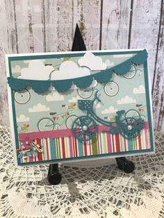 A personal favorite from my Etsy shop https://www.etsy.com/ca/listing/514394895/bicycle-handmade-card