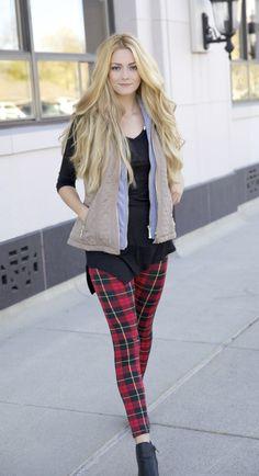 Vest + plaid = perfection!!