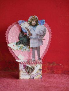 Altered Art Fairy Valentine OOAK Handmade Pixie Mixed Media Paper Collage Pixies | eBay