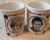 TREASURY ITEM Charles, Princess Diana Wedding 1981 2 Souvenir Mugs, Kiln Craft, Royal Wedding