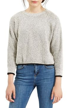 Topshop Ribbed Pullover Crop Sweater available at #Nordstrom