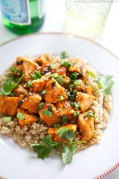 Spicy Sriracha Chicken & Quinoa Bowl | FamilyFreshCooking.com