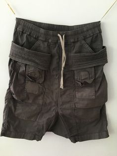 Rick Owens Drop Crotch Cargo Shorts Size 32 $280 - Grailed