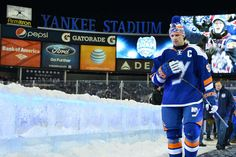 #Isles captain John Tavares ready to enter the ice surface at Yankee Stadium for the 2014 Stadium Series game vs. the New York Rangers. Click the link below to purchase a Stadium Series jersey, the new official third jersey of the #Isles!