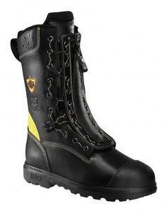 Haix Fire Flash® Gamma Feuerwehr-Stiefel Schnür-Reißverschluss-Stiefel mit Schnittschutz Klasse 2 Lederstärke 2,5 – 2,7 mm Schnittschutz Klasse 2...