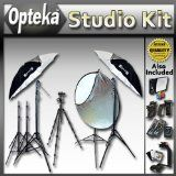 "Extreme Portrait Studio Starter's Kit by Opteka Package Includes 2 x 45-inch Lighting Umbrella kits, 43"" Collapsible Reflector Kit, 54"" Heavy Duty Tripod, Wireless Flash Trigger and Much More for Nikon D90, D3100, D5000, D5100 & D7000 Digital SLR Cameras (Electronics)  #Techno"