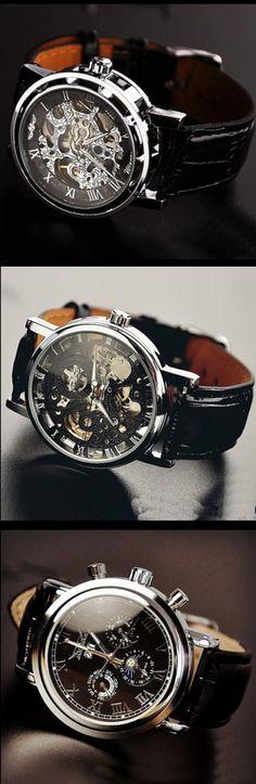 Stan vintage watches — Fashion Day Night Men's Wrist Watch (WAT0102-BLACK)