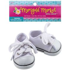 White Canvas Doll Shoes