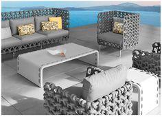 Cabaret Furniture Set from Kenneth Cobonpue, Unique Furniture Design Idea Outside Furniture, Outdoor Furniture Design, Outdoor Wicker Furniture, Lawn Furniture, Unique Furniture, Furniture Decor, Cabaret, Unique Sofas, Sectional Furniture