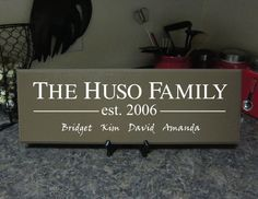 Personalized Family name signs Custom Wooden signs last name sign Custom wedding gift Established family sign Anniversary Plaque Personalized Wooden Signs, Custom Wooden Signs, Wooden Diy, Last Name Signs, Family Name Signs, Name Plaques, Wood Plaques, Wedding Plaques, Wooden Signs With Sayings
