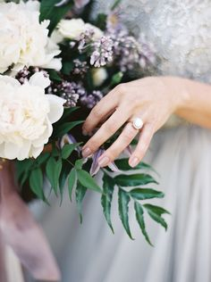 Lilac and Opal Romantic Wedding Details